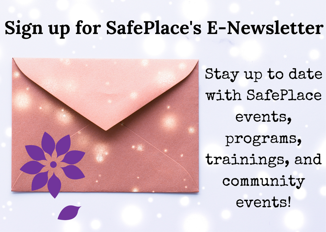 SafePlace logo on an envelope with an email icon, text reading